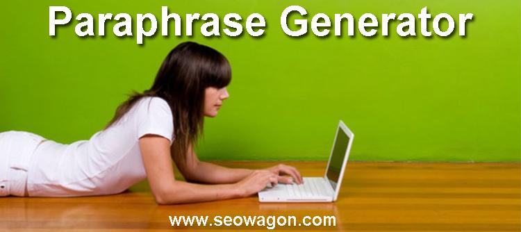 Paraphrase Generator